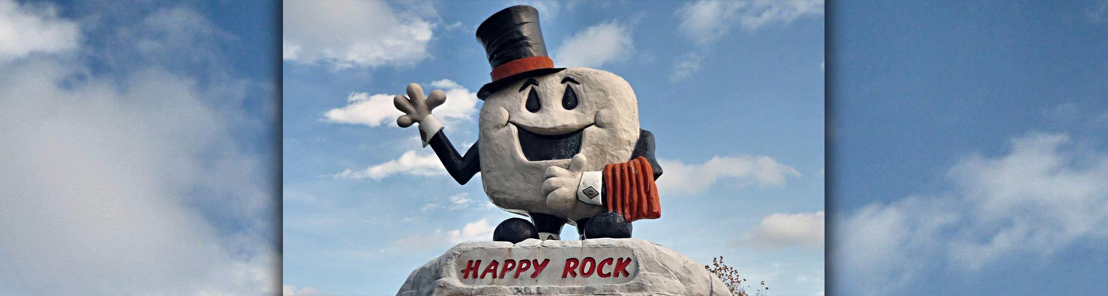 The Happy Rock in Gladstone, Manitoba